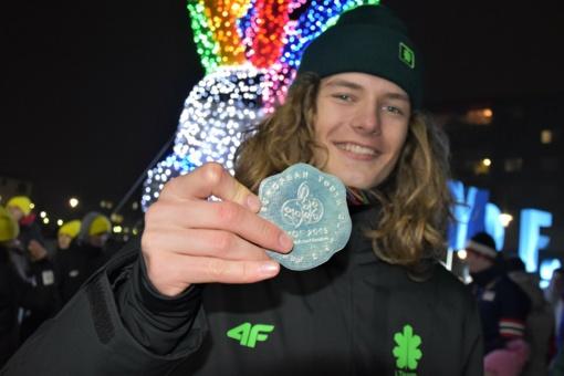 Sidabro medalį į Lietuvą parvežęs snieglentininkas M. Morauskas: laimės buvo pilnos kelnės