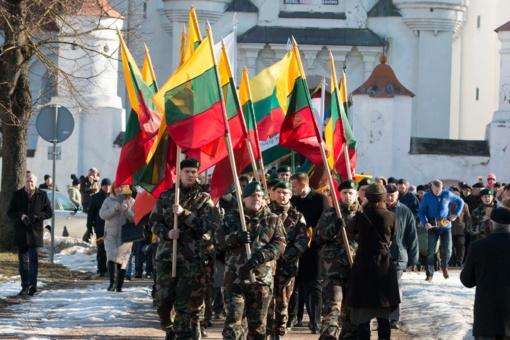 Šiauliai paminėjo Lietuvos valstybės atkūrimo 101-ąsias metines (vaizdo įrašas)