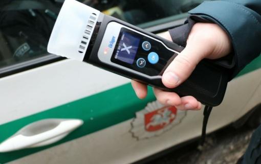 Savaitgalį vykdytos priemonės metu nustatyti 7 neblaivūs vairuotojai
