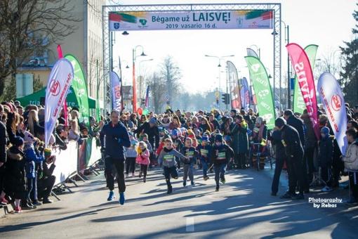 Mažeikių bėgime vasario 16-ąją lijo rekordais – brolio ir sesers Kančių triumfas