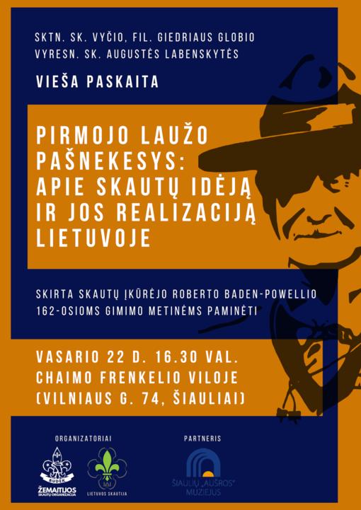Pirmojo laužo pašnekesys: apie skautų įdėją ir jos realizaciją Lietuvoje