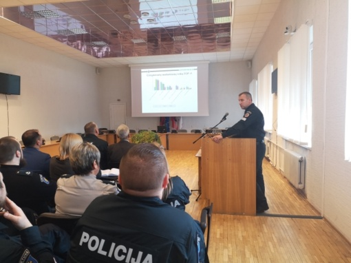 Skuodo rajono policijos komisariato pareigūnai pristatė metinius veiklos rezultatus