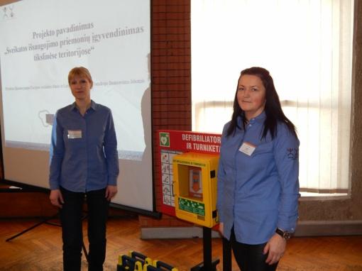 Jurbarke atsiras defibriliatoriai, padėsiantys gelbėti gyvybes