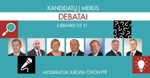 Jurbarkiečiai kviečiami į debatus su kandidatais į rajono merus