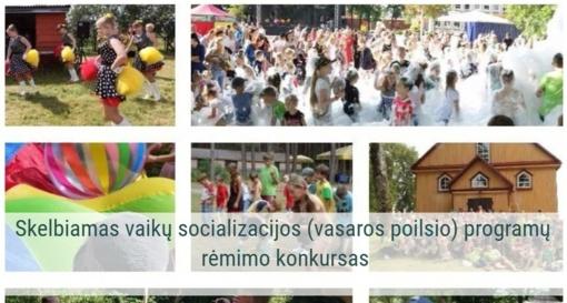 Dėl vaikų socializacijos (vasaros poilsio) programų rėmimo konkurso Tauragės rajono savivaldybėje