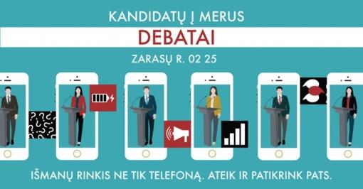 Kandidatų į merus Zarasų rajono savivaldybėje debatai