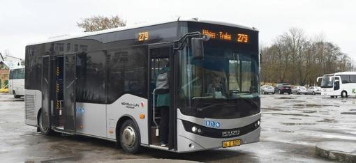 Du nauji autobusai kursuos po Trakus ir apylinkes