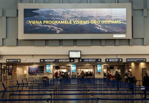 Lietuvos oro uostuose – rekordinis reklamos priemonių modernizavimas ir didžiausia Lietuvoje vidaus patalpų vaizdo siena