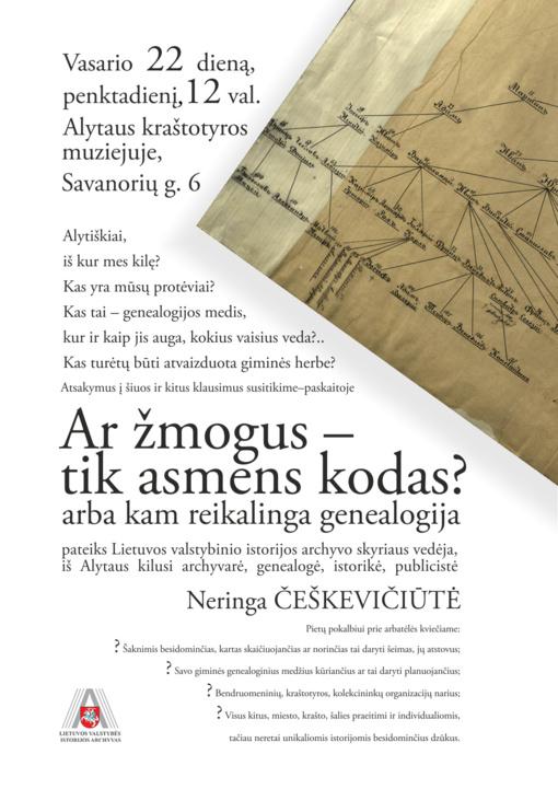 Apie giminės medžius pasakos genealogė Neringa Češkevičiūtė