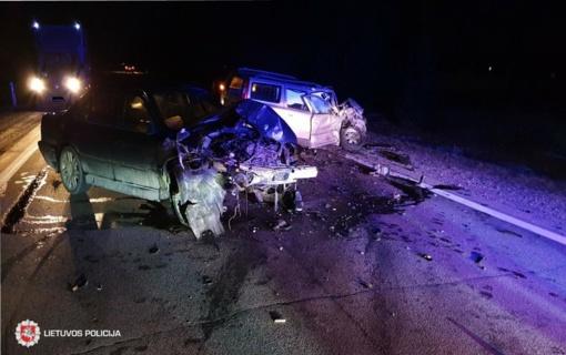 Vilniuje neblaivus vairuotojas sukėlė avariją