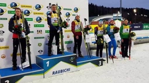 Gėles Karoliui Dombrovskiui Atvirame Europos biatlono čempionate Baltarusijoje