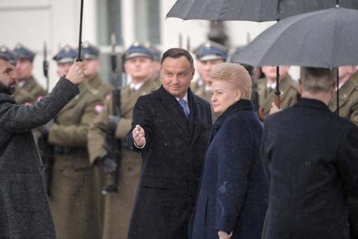 Po D. Grybauskaitės ir A. Dudos susitikimo - pagyros šiltėjantiems santykiams ir dėmesys lenkų mažumai