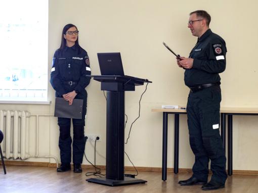 Ataskaitiniame susirinkime aptartos policijos darbo gairės