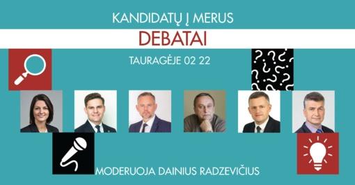 Vasario 22 d. – kandidatų į merus debatai