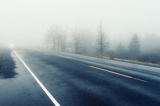 Kelių būklė ir eismo sąlygos: pagrindinių kelių dangos daugiausiai drėgnos