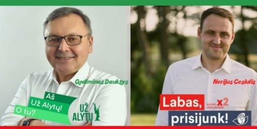 Antrame Alytaus mero rinkimų etape kausis G. Daukšys ir N. Cesiulis (vaizdo įrašas)