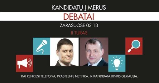 Zarasuose – kandidatų į merus debatai