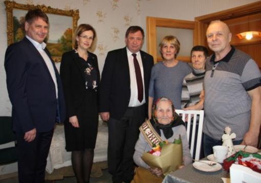 Pasveikinta šimtametė Bronė Pranckevičienė