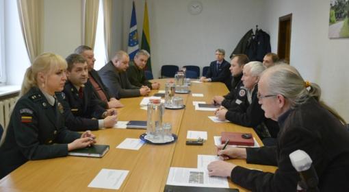 Komisija aptarė galimas ekstremalias situacijas