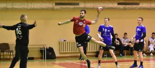 """""""Dragūno"""" rankininkai užtikrintai laimėjo pirmąsias Baltijos lygos ketvirtfinalio rungtynes"""