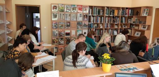 Kūrybinio rašymo dirbtuvės Kuršėnų Vytauto Vitkausko bibliotekoje