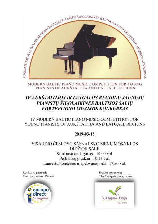 Baltijos šalis vienijanti fortepijono muzikos šventė
