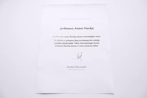 Šiaulių meras sulaukė Vyriausybės vadovo sveikinimo