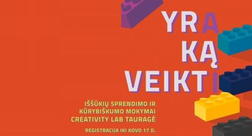 """Skelbiamas ketvirtasis """"Creativity LAB"""" sezonas"""