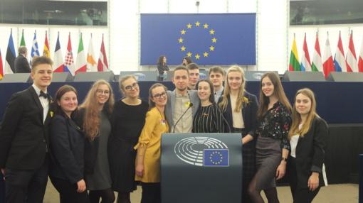 """Romuvos"" gimnazistai  - EUROSCOLA renginyje Strasbūre"
