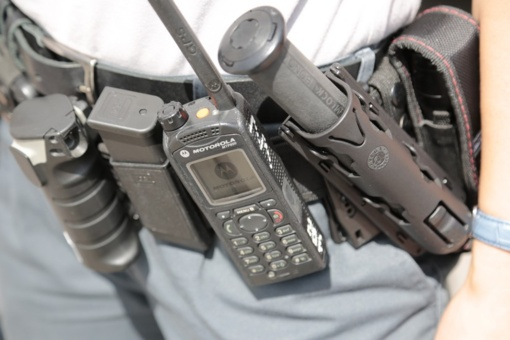 Policininkus puolė su šakėmis