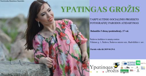 """Tarptautinio socialinio projekto """"Ypatingas grožis"""" fotografijų paroda Šeduvoje"""