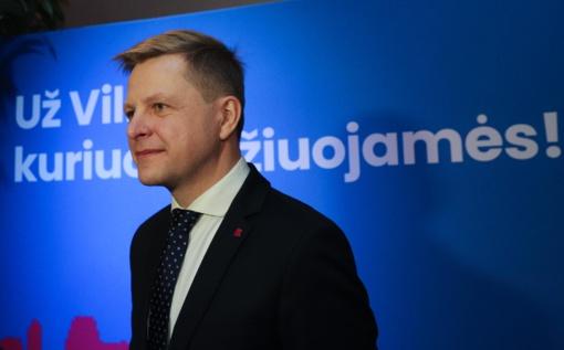 Vilniuje kol kas pirmauja R. Šimašius