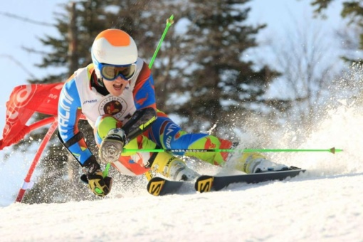 Kalnų slidininkas A. Drukarovas varžybose Italijoje - šeštas