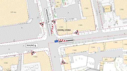 Vilniaus Mindaugo ir Kauno gatvių sankryžoje - laikini eismo ribojimai