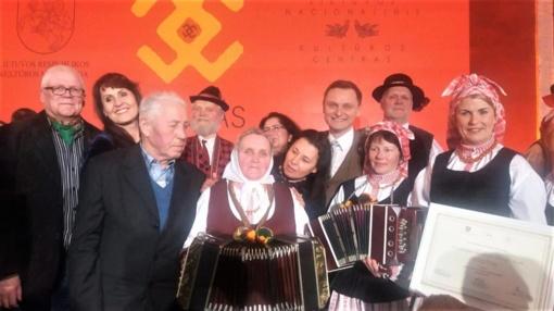 Rotušėje pagerbti Tauragės bandonininkai – nematerialaus kultūros paveldo puoselėtojai