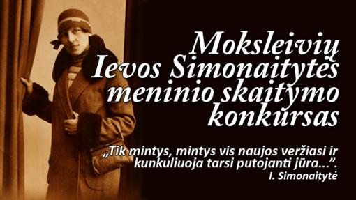 Ievos Simonaitytės moksleivių meninio skaitymo konkursas