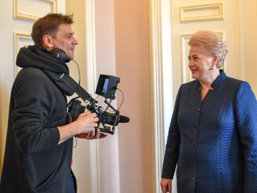 Režisierius D. Ulvydas siekia atskleisti, koks žmogus yra D. Grybauskaitė (vaizdo įrašas)