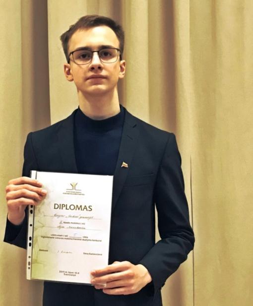 Nojus Marcinkevičius – Lietuvos mokinių regioninio meninio skaitymo konkurso nugalėtojas!