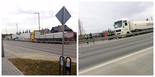 Dėl avarijos sustojo eismas kelyje iš Jonavos link Kauno ties Karmėlava