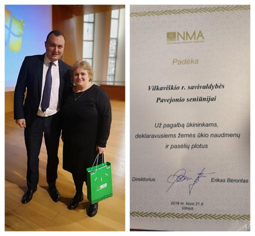 Kasmetinėje Nacionalinės mokėjimo agentūros konferencijoje padėkota Pajevonio seniūnijai