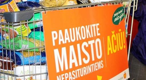 """""""Maisto banko"""" akcija: paaukota 479 tūkst. eurų vertės maisto produktų"""
