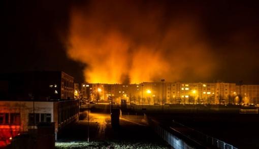 Didžiulis žolės gaisras Gytarių gatvėje