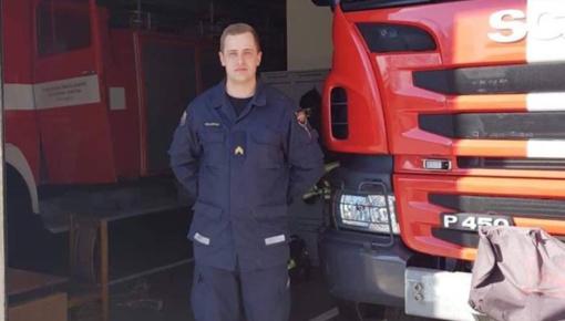 Ugniagesio keliu  pastūmėjo gaisre žuvusio senelio atminimas