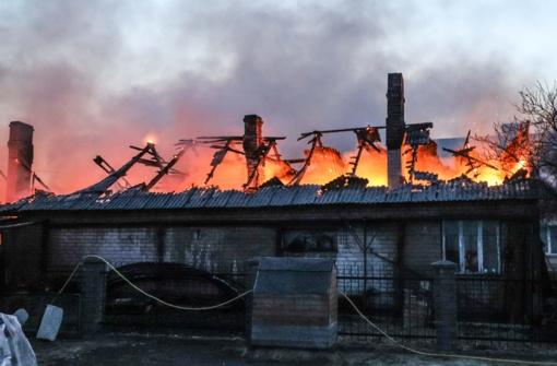 Kupiškio rajone degė ūkinis pastatas
