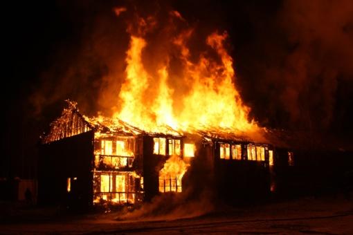 Širvintų rajone degė namas