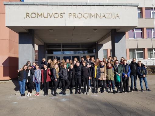 """Šiaulių """"Romuvos"""" progimnazijoje tarptautinių klasių mainų savaitė"""