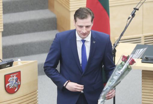 Prisiekė aplinkos ministras K. Mažeika