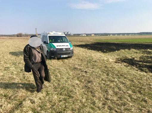 Ukmergės rajone pričiuptas įžūlus žolės degintojas
