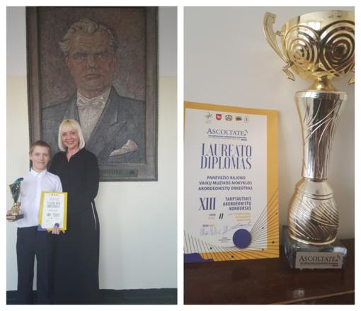 Tarptautiniame konkurse Panevėžio r. muzikos mokyklos akordeonistus lydėjo sėkmė