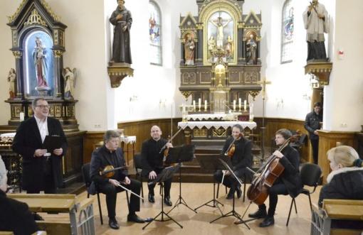 Pirmą kartą Šv. Kryžiaus bažnyčioje nuskambėjo Čiurlionio kvarteto liturginis kūrinys
